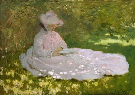Monet, Claude: Springtime. Fine Art Print/Poster. Sizes: A4/A3/A2/A1 (004077)
